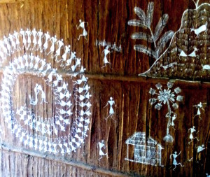Warli painting on walls