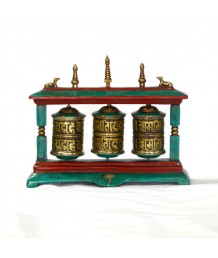 Potala Prayer Wheel With 3 Line Stone Pasted