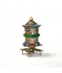 Zed Prayer wheel With Stone Pastad With Stand PW