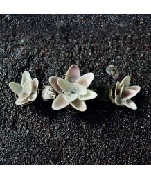 Fleur-Hair-Clip-Zinc-Alloy-Metal-Base-Antique-Bronze-Purple-Coquinnas