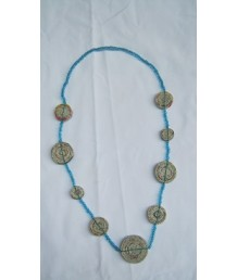 Necklace Mixed round rolled beads 19